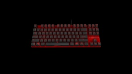 Ozone Strike Battle MX Red US Layout Red Keyboard OZSTRIKEBATTLERUSRD